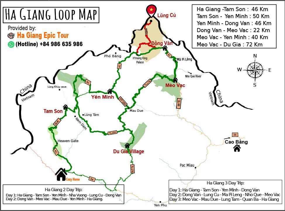 Ha Giang loop map